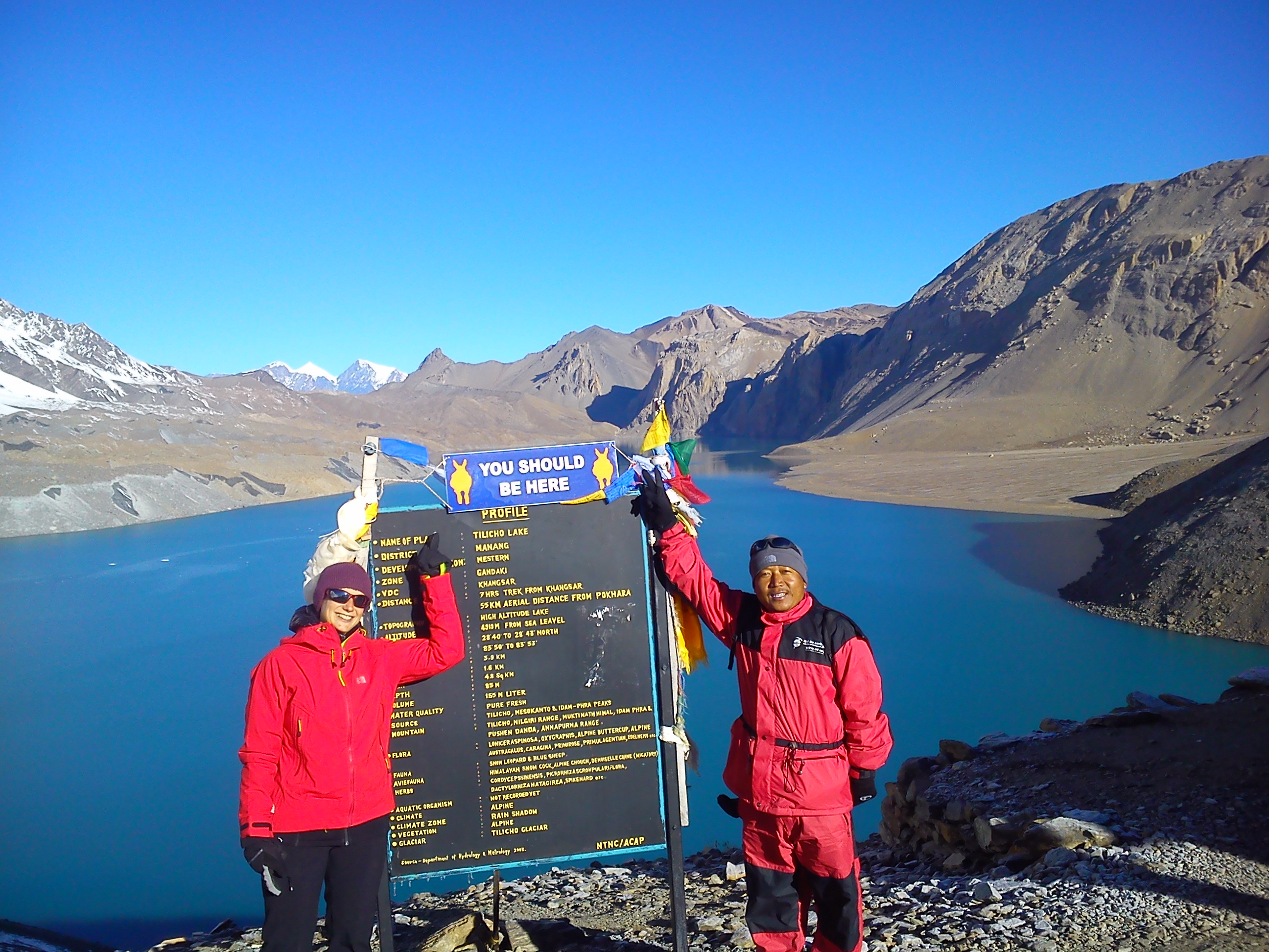 Tilicho lake, the lake is in 4919 m. high elevation at Manang